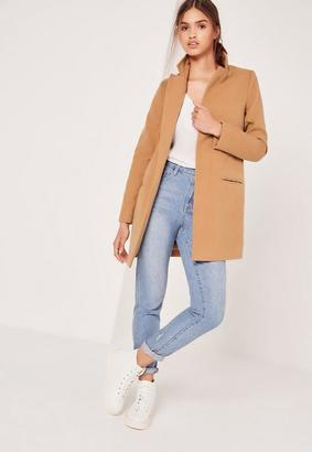 Short Tailored Wool Coat Camel $81 thestylecure.com