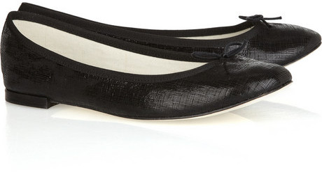 Repetto BB textured-leather ballet flats