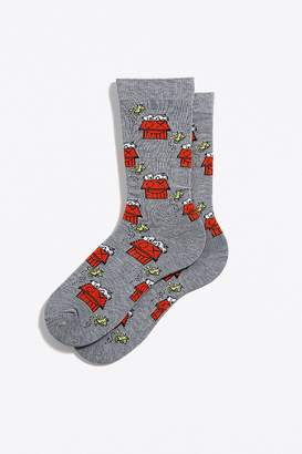 Urban Outfitters Peanuts X Mr. A Snoopy Crew Sock
