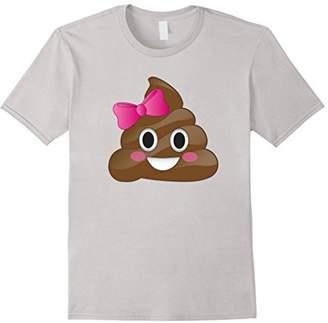 Cute Funny Emoji Pink Bow Cutie Poo T-Shirt - Poop Emoji