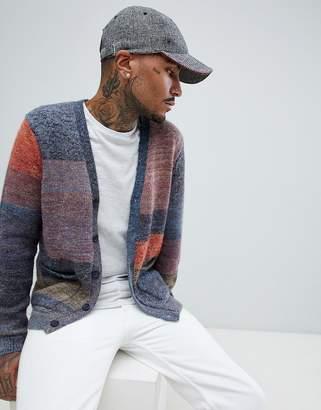 Asos DESIGN patchwork effect cardigan in textured Yarn