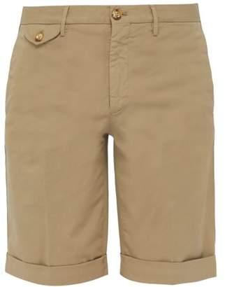 Incotex Royal Batavia Mid Rise Linen Blend Chino Shorts - Mens - Beige