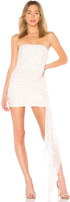 Michelle Mason Ruched Strapless Dress