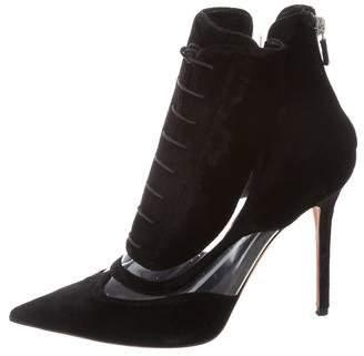 Derek Lam Velvet Pointed-Toe Boots