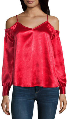 BELLE + SKY Cold Shoulder Cami Blouse