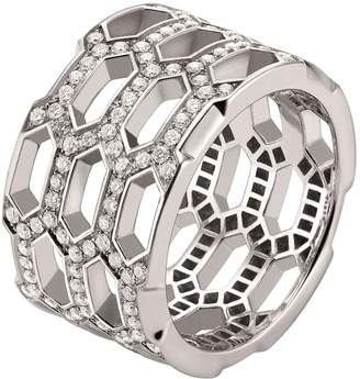 Bvlgari White Gold and Diamond Serpenti Seduttori Ring