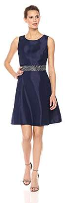Nine West Women's Fit & Flare Dress W/Trim at W.b