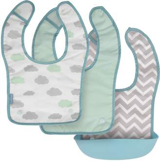 Kushies Silisnap 3 in 1 Bib with Detachable Silicone Pocket