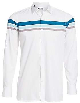 a2eec7a897 Colorful Striped Long Sleeve Shirt - ShopStyle