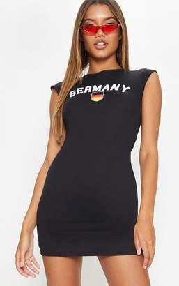 PrettyLittleThing Germany Black Football High Neck Bodycon Dress