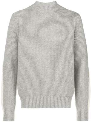 Sacai funnel-neck ribbed sweater