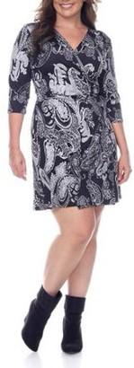 White Mark Women's Plus Size Paisley Mariah Dress