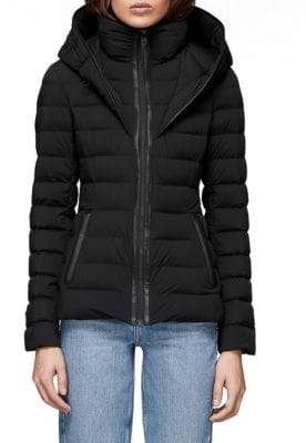 Mackage Women's Andrea Hooded Down Puffer Jacket - Black - Size XXS