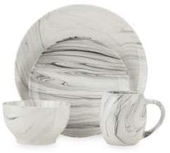 Marbled Sixteen-Piece Dinner Set