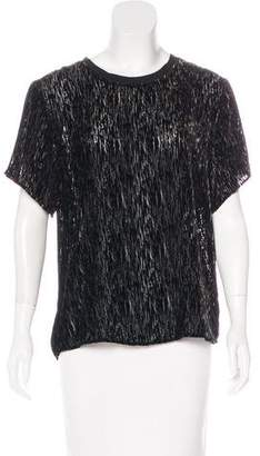 Theyskens' Theory Velvet Devoré Top