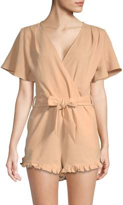 Lucca Couture Women's Mackenzie Flutter-Sleeve Romper