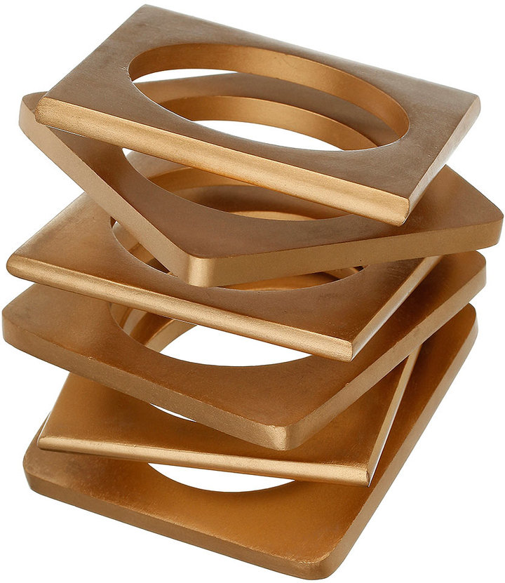 Abstract Wood Bangle Pack