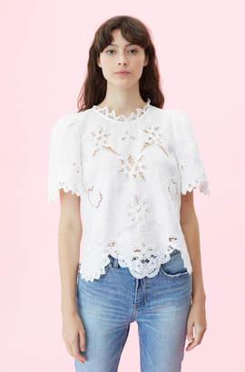 Rebecca Taylor Terri Embroidered Top