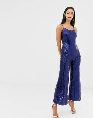 UNIQUE21 strappy glitter jumpsuit