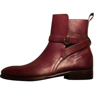 Caulaincourt Burgundy Leather Boots