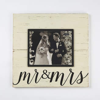 Mud Pie Wedding Mr. & Mrs. Deluxe Picture Frame
