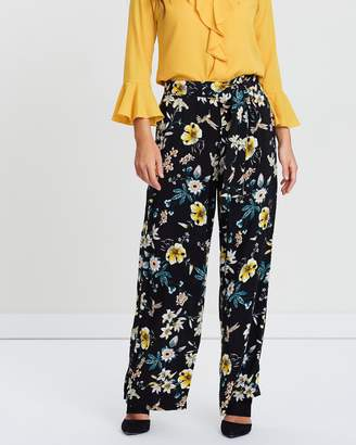 Wallis Printed Wide Leg Trousers