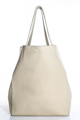 CelineCeline Beige Leather Double Handle Cabas Phantom Tote Handbag