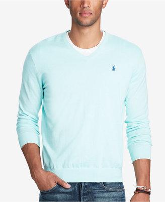 Polo Ralph Lauren Men's V-Neck Sweater $98.50 thestylecure.com