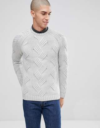 ONLY & SONS Knitted Sweater With Cable Detail