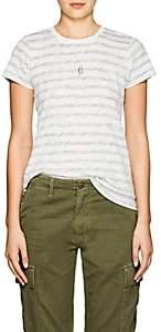 """ATM Anthony Thomas Melillo Women's """"Schoolboy"""" Slub Cotton T-Shirt - Olive"""