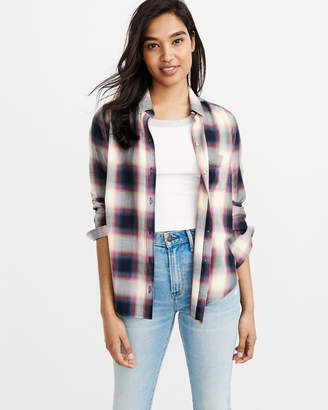 Abercrombie & Fitch Drapey Plaid Shirt
