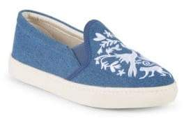 Soludos Otomoi Flora Denim Slip-On Sneakers