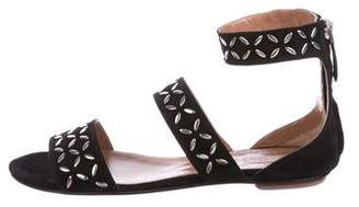 Alaia Suede Studded Sandals w/ Tags
