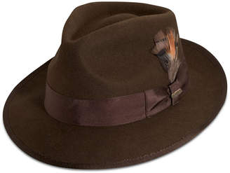 ec10a53ace4ab Dorfman Pacific Men Wool Snap-Brim Fedora
