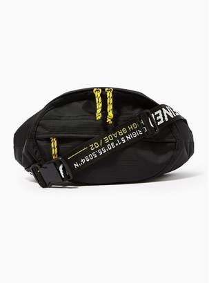 3e80a8e9bb3f Topman Mens Black Round Text Cross Body Bag