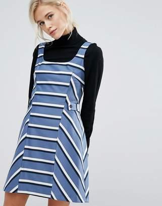 Oasis Stripe Pinafore Dress $89 thestylecure.com