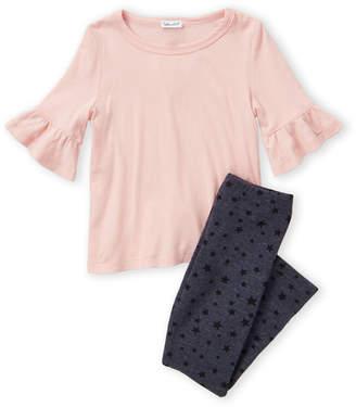 Splendid Toddler Girls) Two-Piece Short Sleeve Tee & Star Print Leggings Set