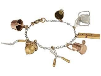 Tory Burch Gardening Tool Charm Bracelet