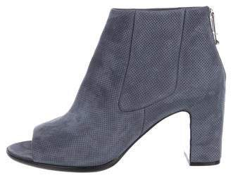 Balenciaga Perforated Peep-Toe Booties