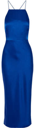 Jason Wu - Satin-crepe Midi Dress - Cobalt blue $1,495 thestylecure.com