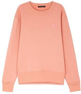 Acne Studios Fairview Face Pink Cotton Sweatshirt