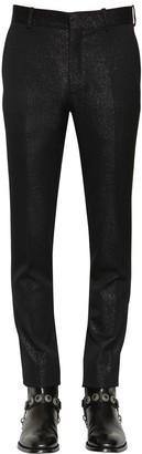 Alexander McQueen 17cm Slim Fit Wool & Lurex Pants