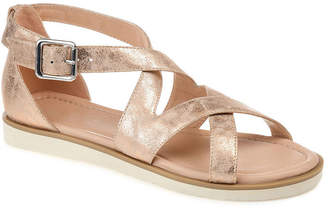Journee Collection Womens Lowen Ankle Strap Flat Sandals