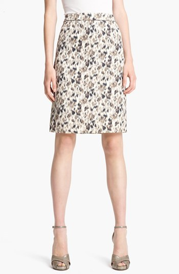 Marc Jacobs Floral Print Pencil Skirt