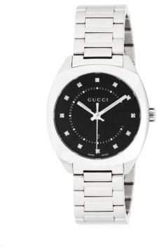 Gucci Stainless Steel Crystal Studded Bracelet Watch