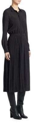 Loro Piana Stefanie Romantic Wool Shirtdress