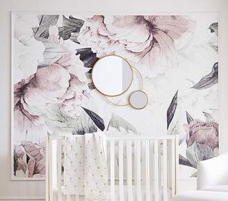 Pottery Barn Kids Anewall Blush Floral Temporary Wallpaper