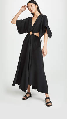 3.1 Phillip Lim Short Sleeve Crepe Maxi Dress