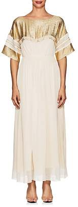 Chloé Women's Silk-Blend Crepe Maxi Dress