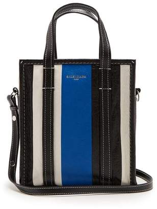 Balenciaga Bazar Shopper Xs - Womens - Blue Stripe